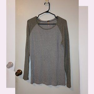 Grey and army green long sleeve